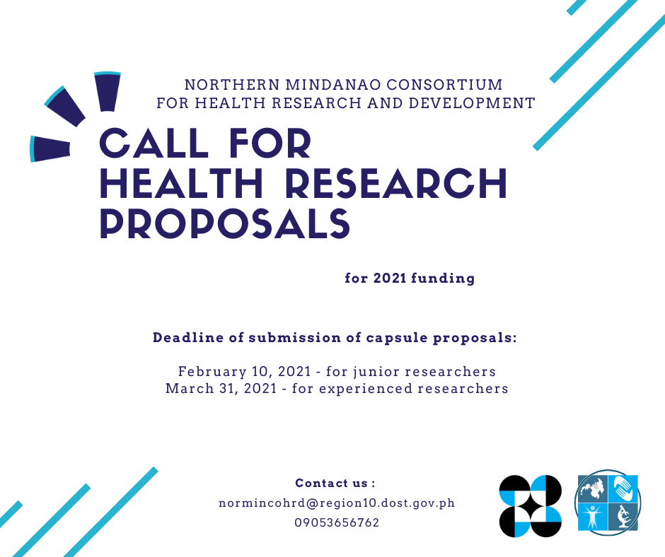 call for health research proposals 1
