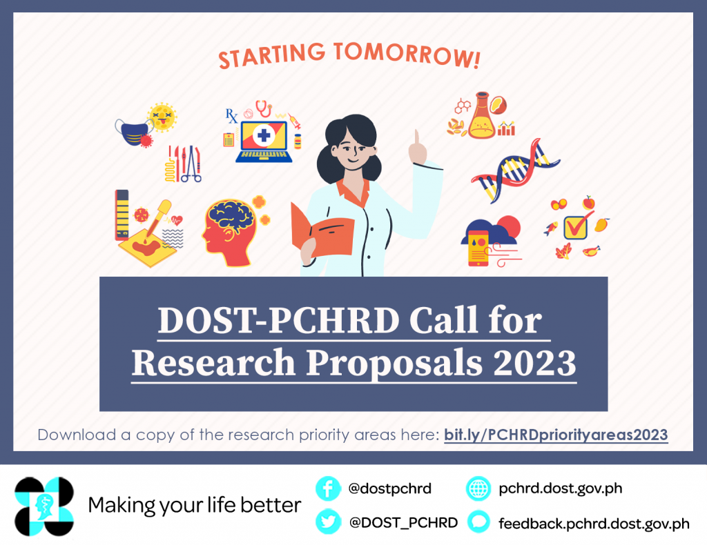 dost pchrd call for research proposals 2023