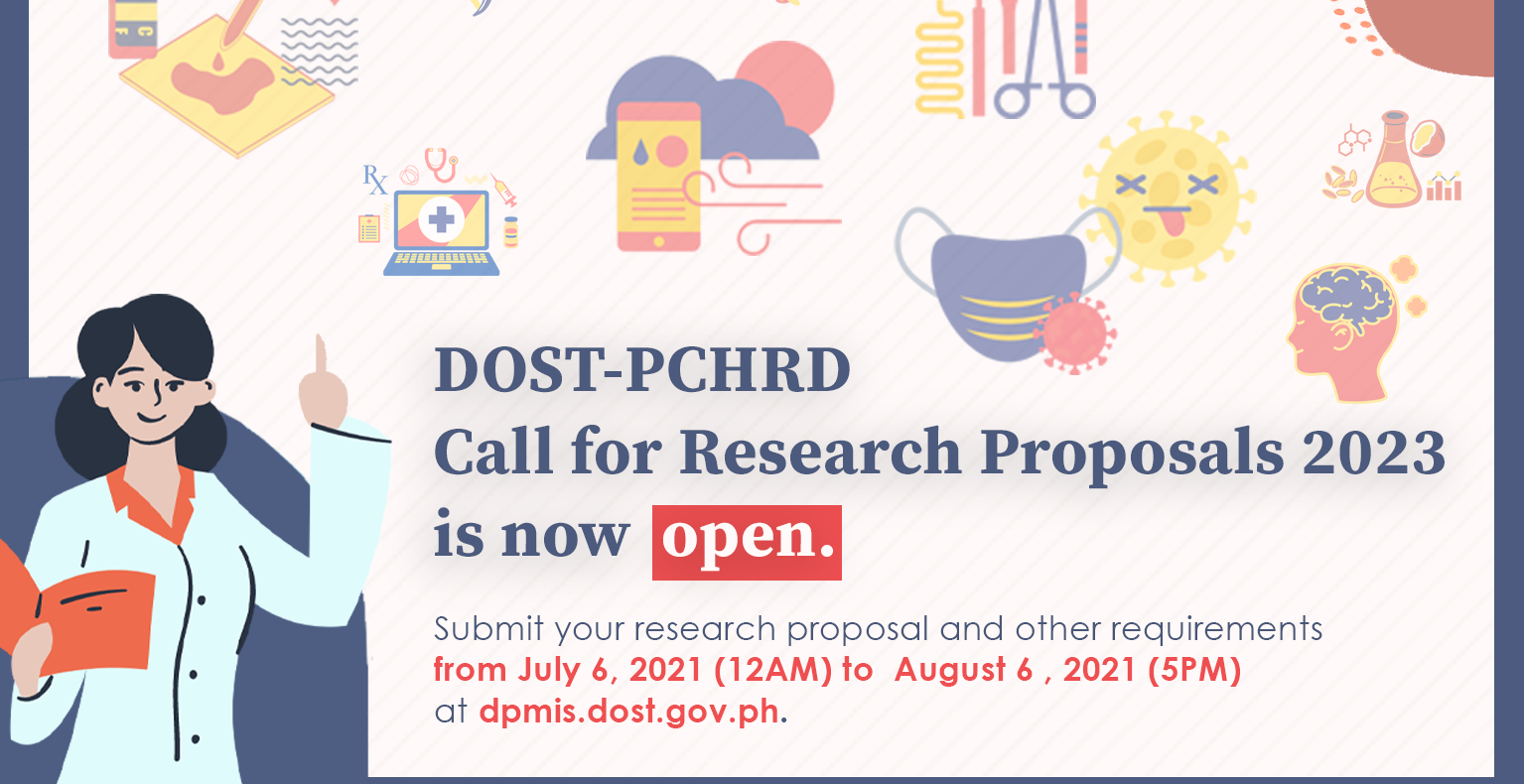 DOST PCHRD Call for Research Proposals 2023 now open
